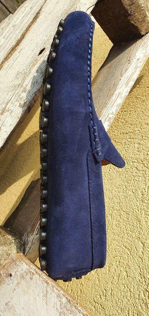 Mocassins bleu marine homme cuir saint raphael