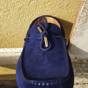 Mocassin-lacets-bleu-marine-homme